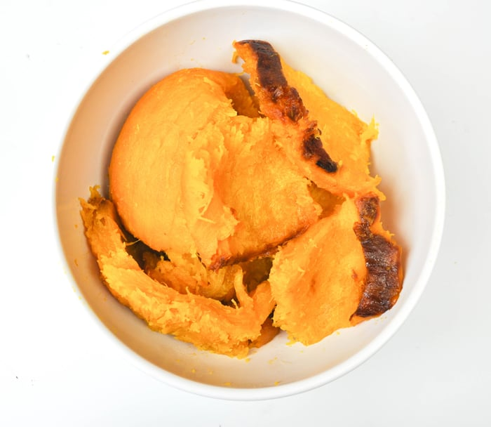 Easiest way to make your own pumpkin puree.  Use in Pumpkin recipes!  Yum!