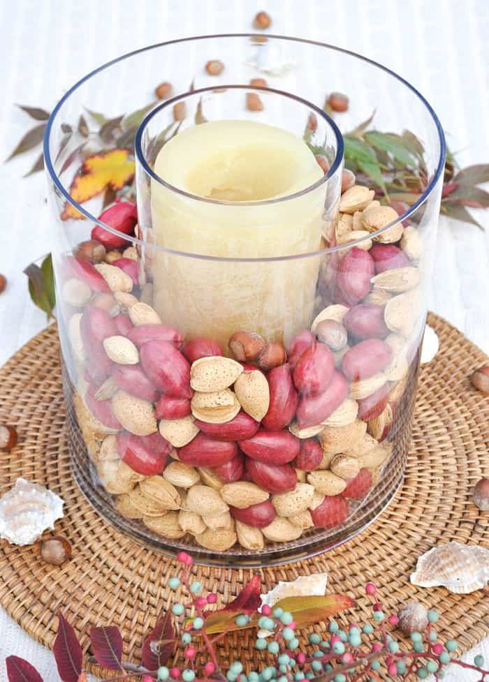 Whole Nut Centerpiece for Thanksgiving