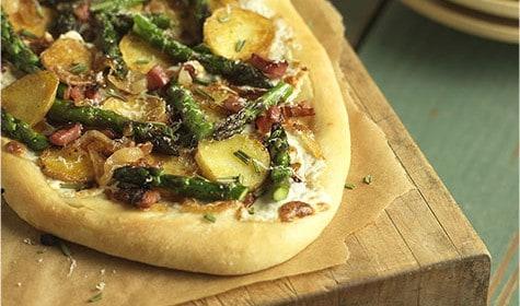 California Asparagus Potato Pizza