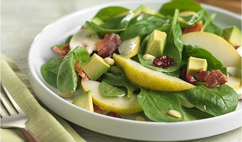 California Bartlett Pear and Spinach Salad