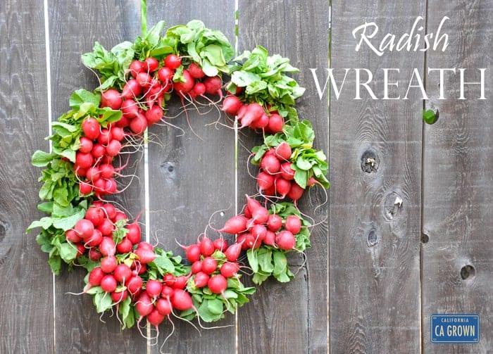 California Radish Wreath