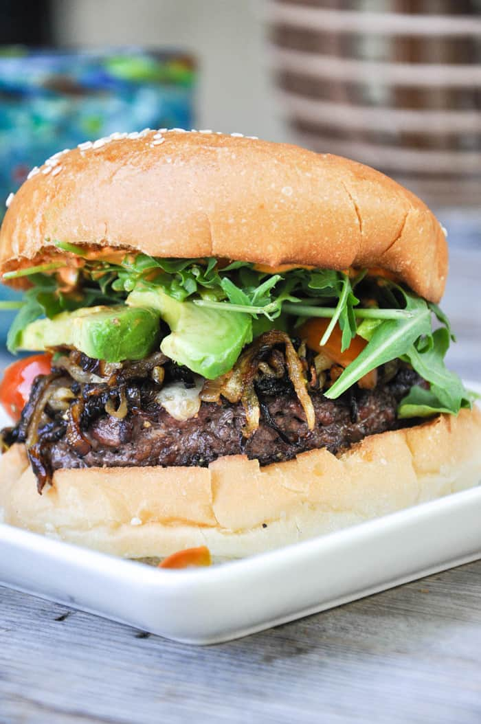 Califronia Classic Burger featuring Harris Ranch Beef