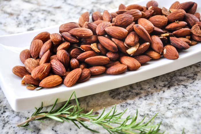Roasted Garlic and Rosemary Almonds