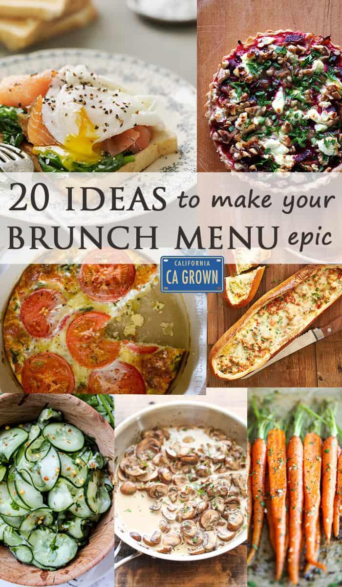 20 Ideas to Make Your Brunch Menu Epic