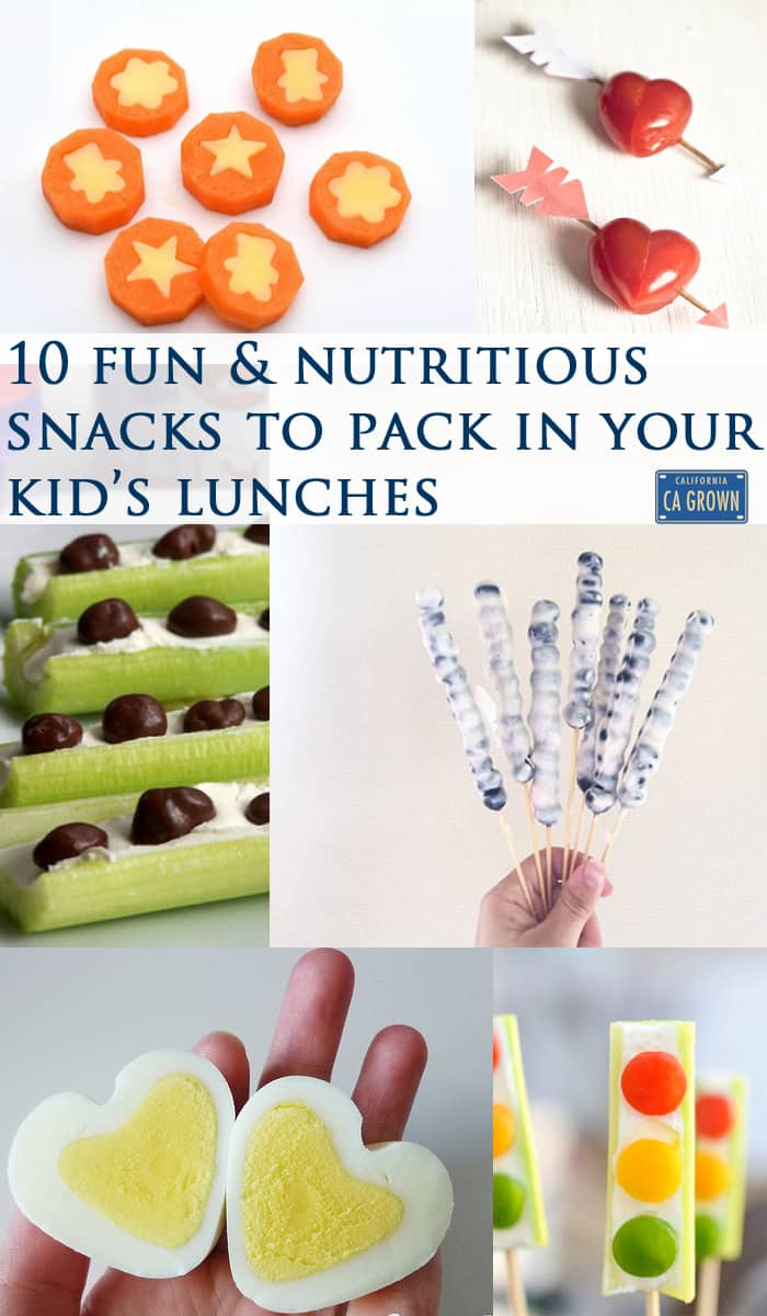 10 fun and nutritious snacks to pack in your kid's lunch box!