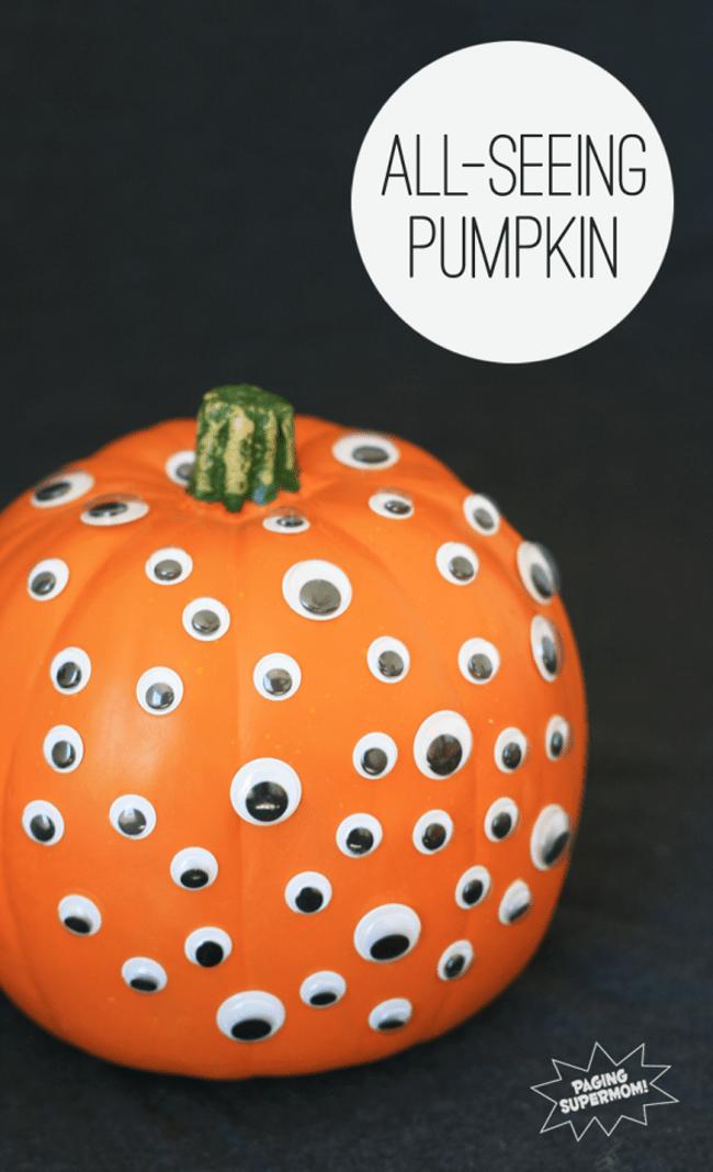 googly eye pumpkin
