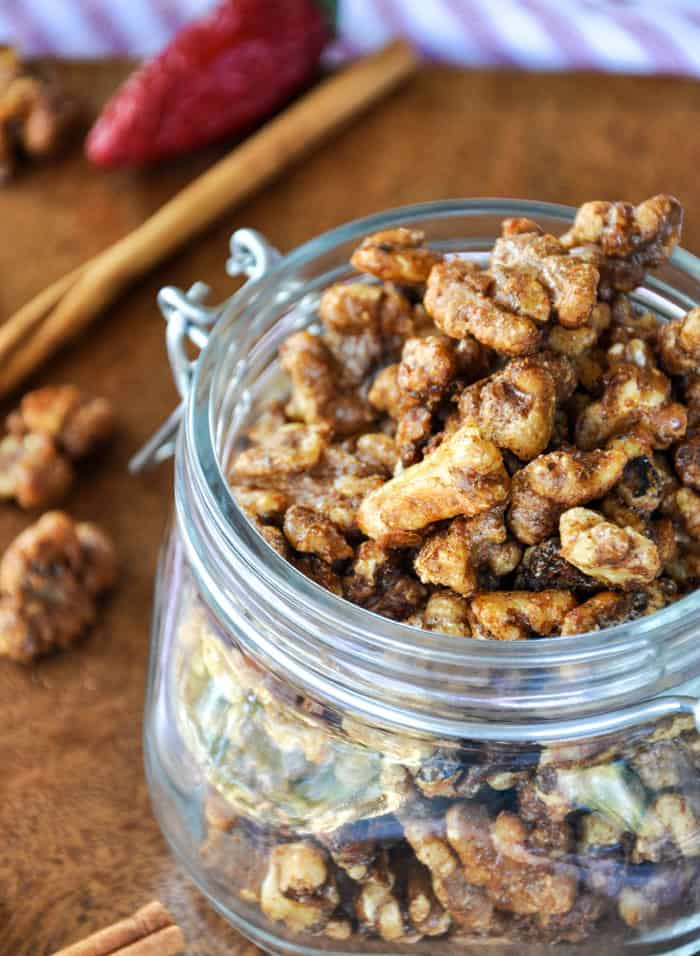 Fiery Candied Walnuts. Soooo good!