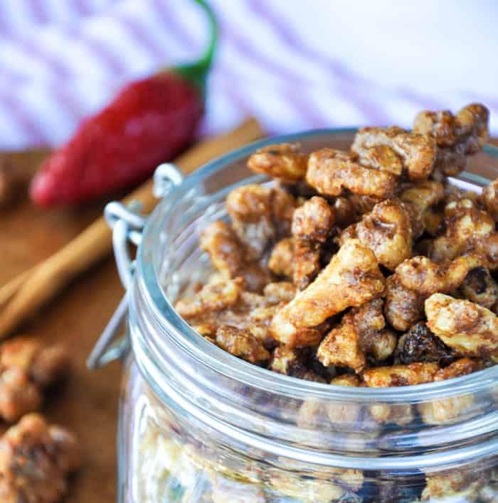 Fiery Candied Walnuts. Soooo good!