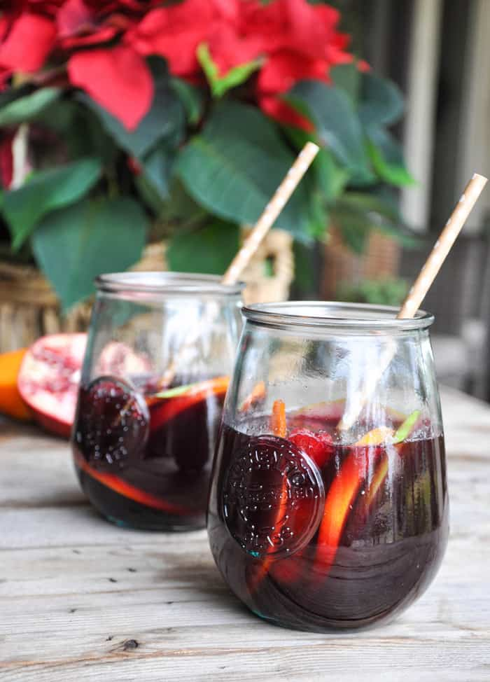 Two glasses of sangria