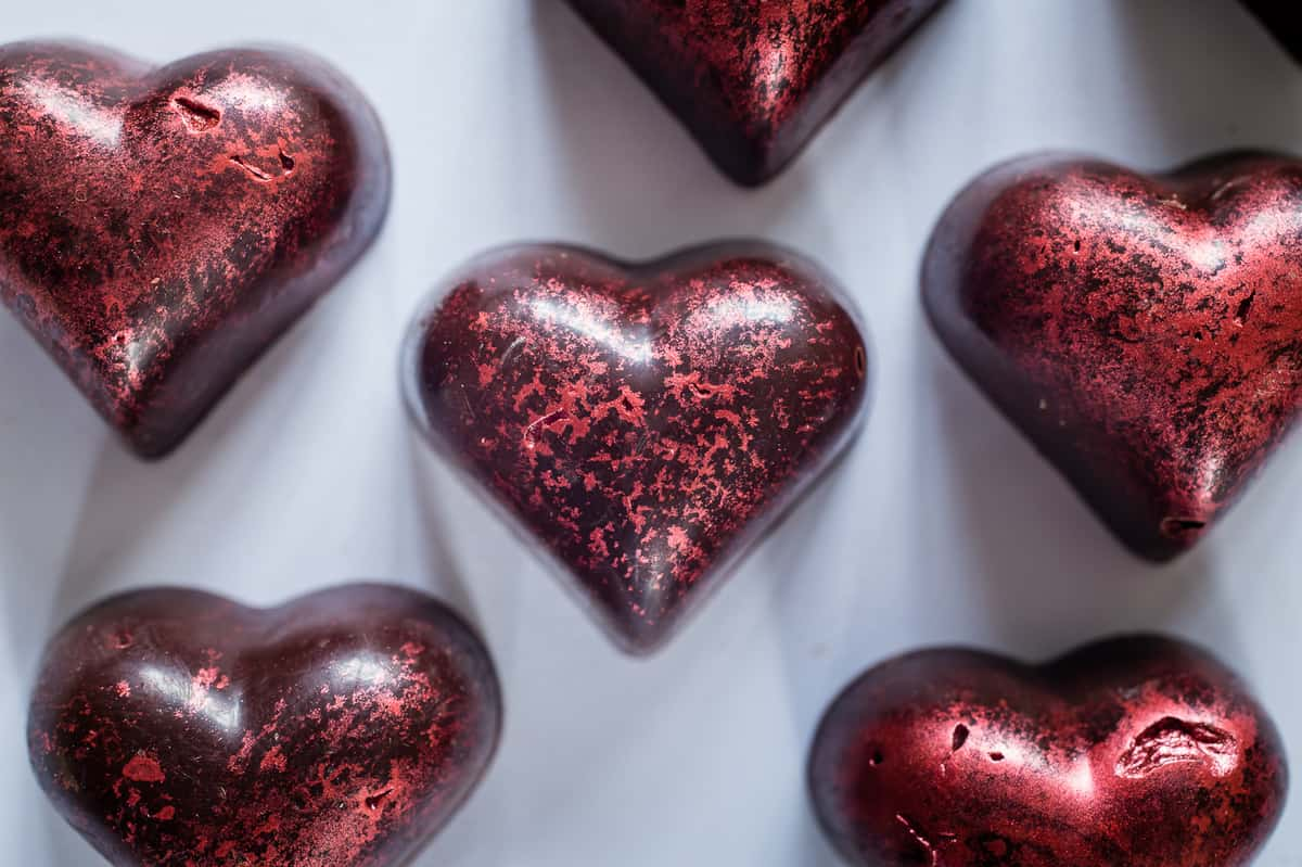 California Prune Valentine Heart Chocolates