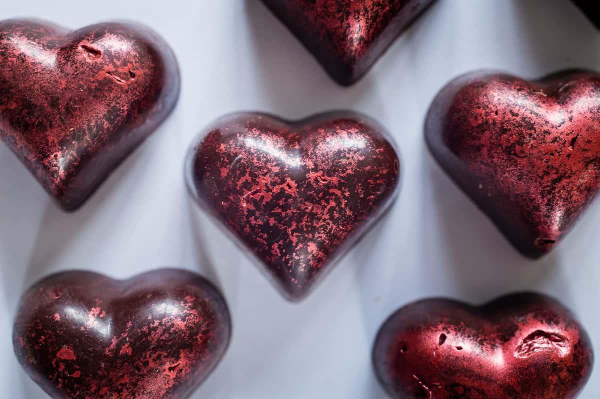 California Prune Valentine Heart Chocolates