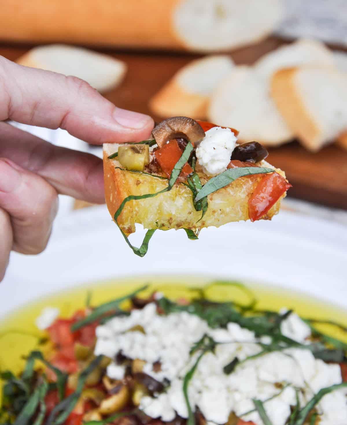 Chunky Olive Oil Dip