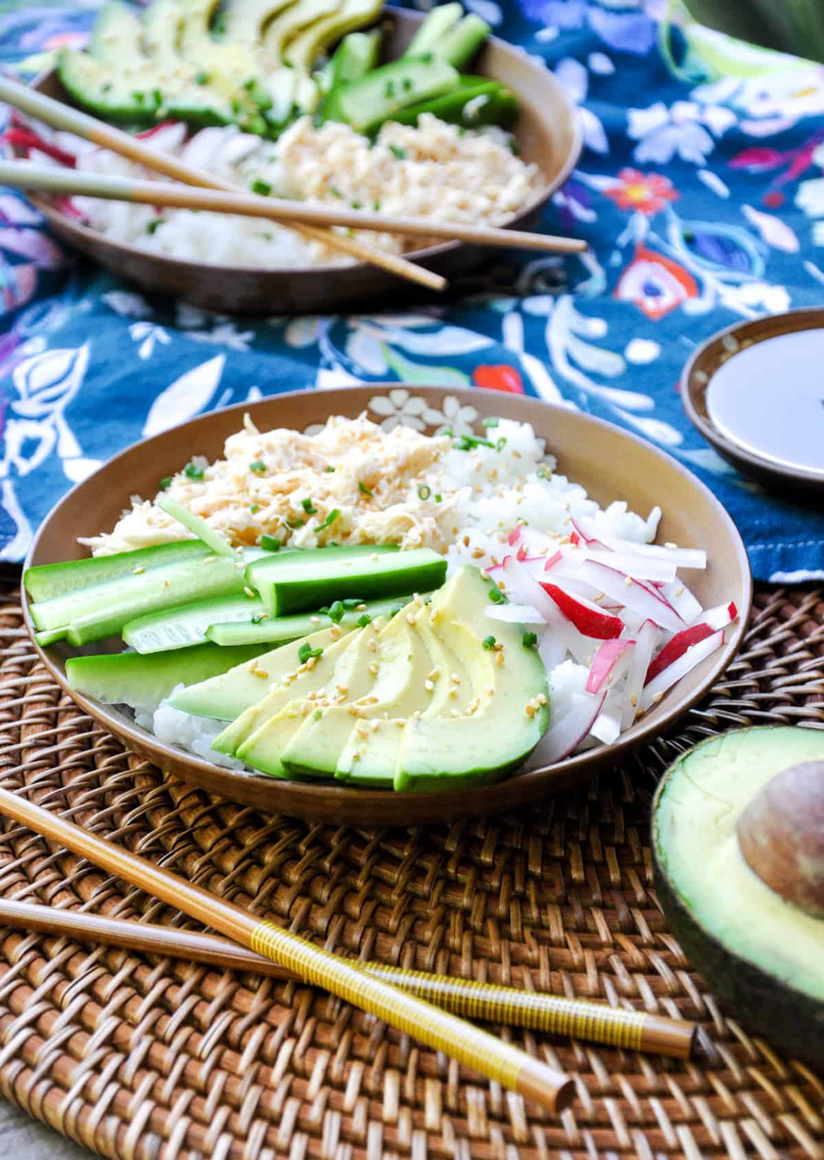 Deconstructed California Roll in Bowl
