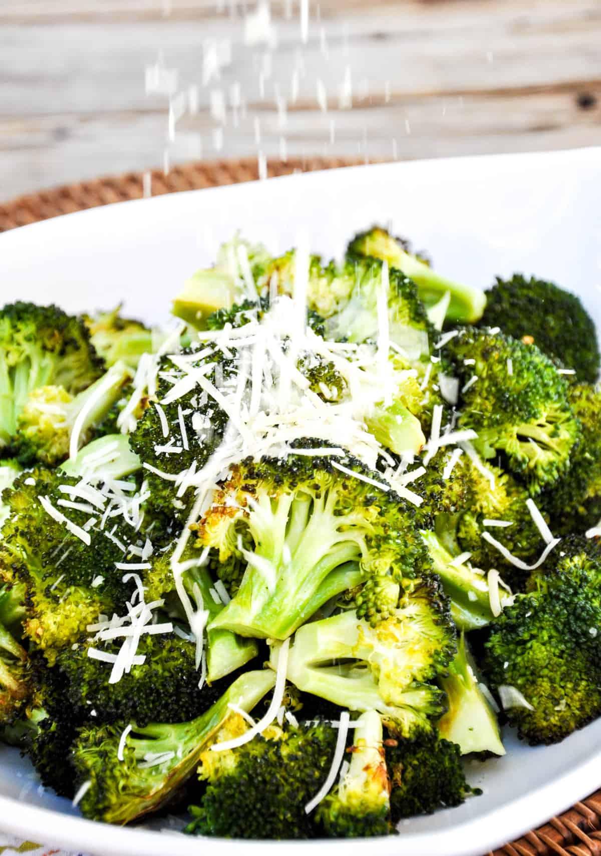 Roasted Garlic Broccoli with Parmesan
