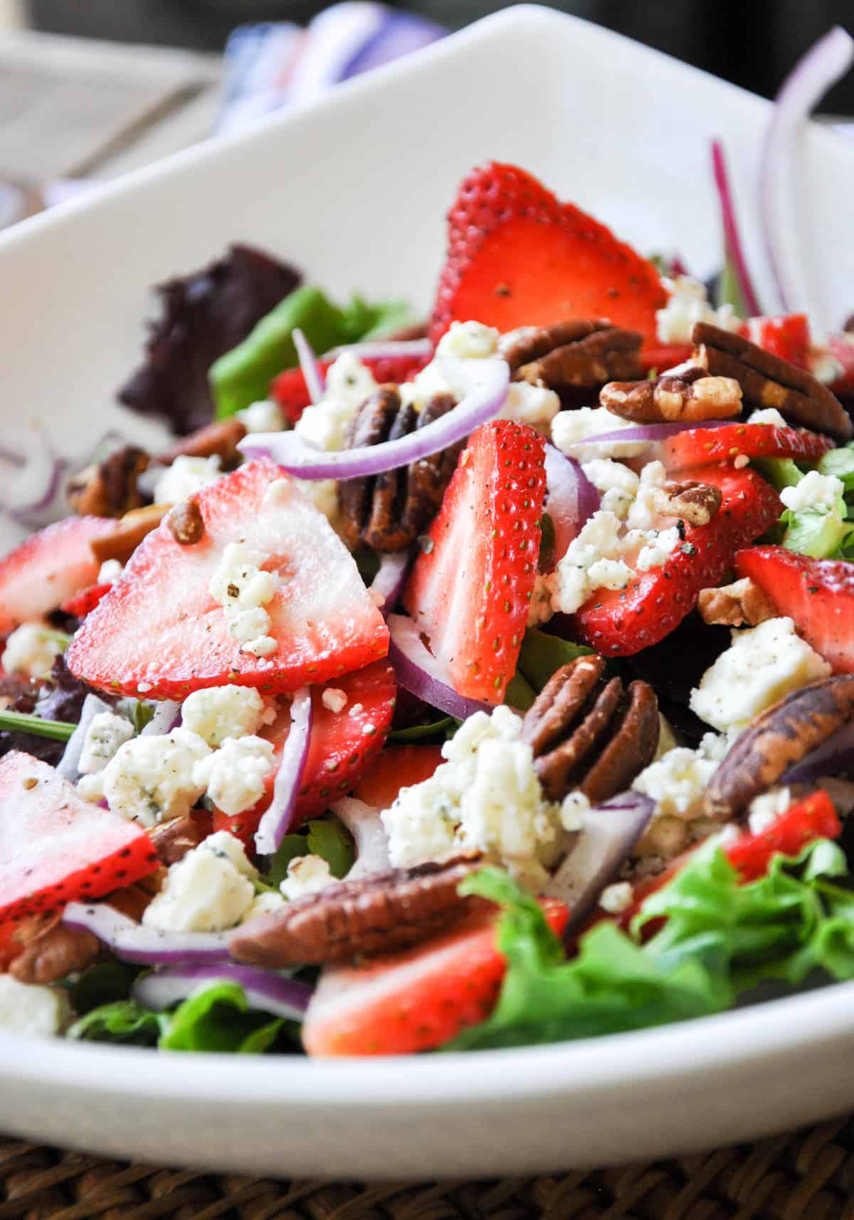Close up of Strawberry Chicken Salad