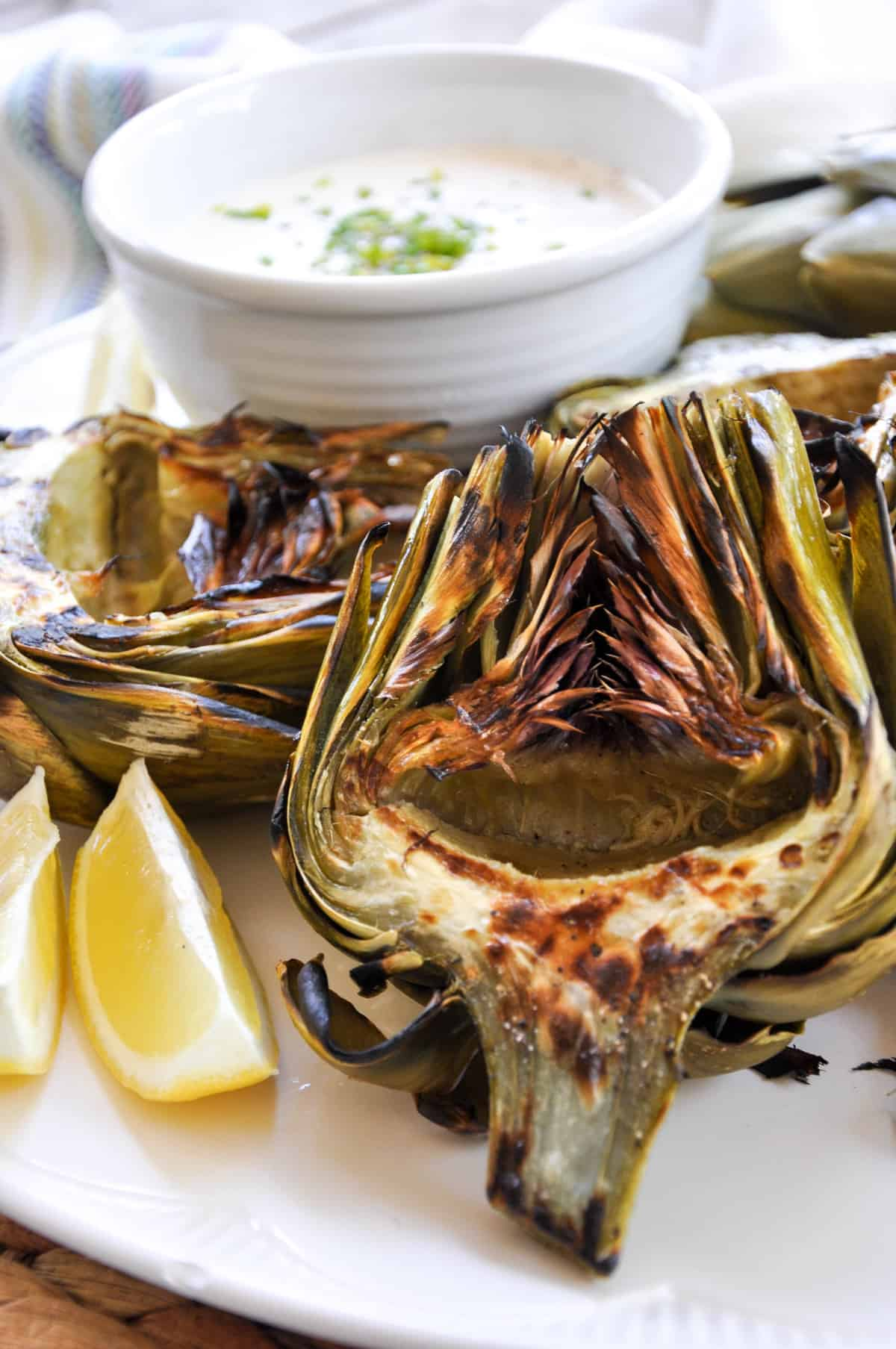 Grilled Artichokes with Zesty Garlic Aioli