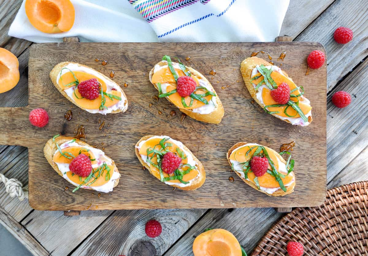 Summer Fruit Bruschetta. So Yum!