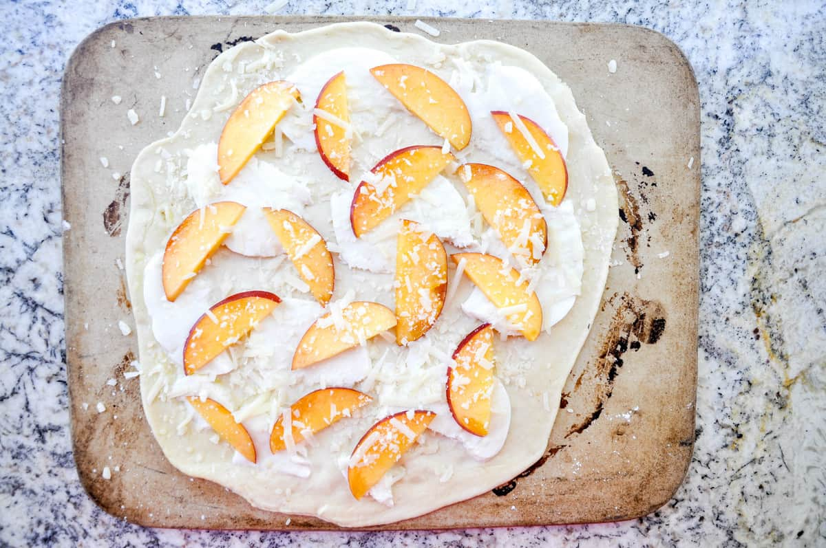Nectarine Arugula Pizza Recipe! So good :)