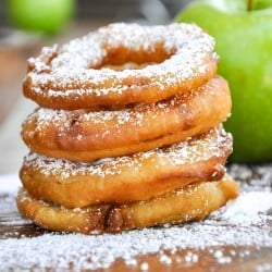A stack of Fried Apple Rings.