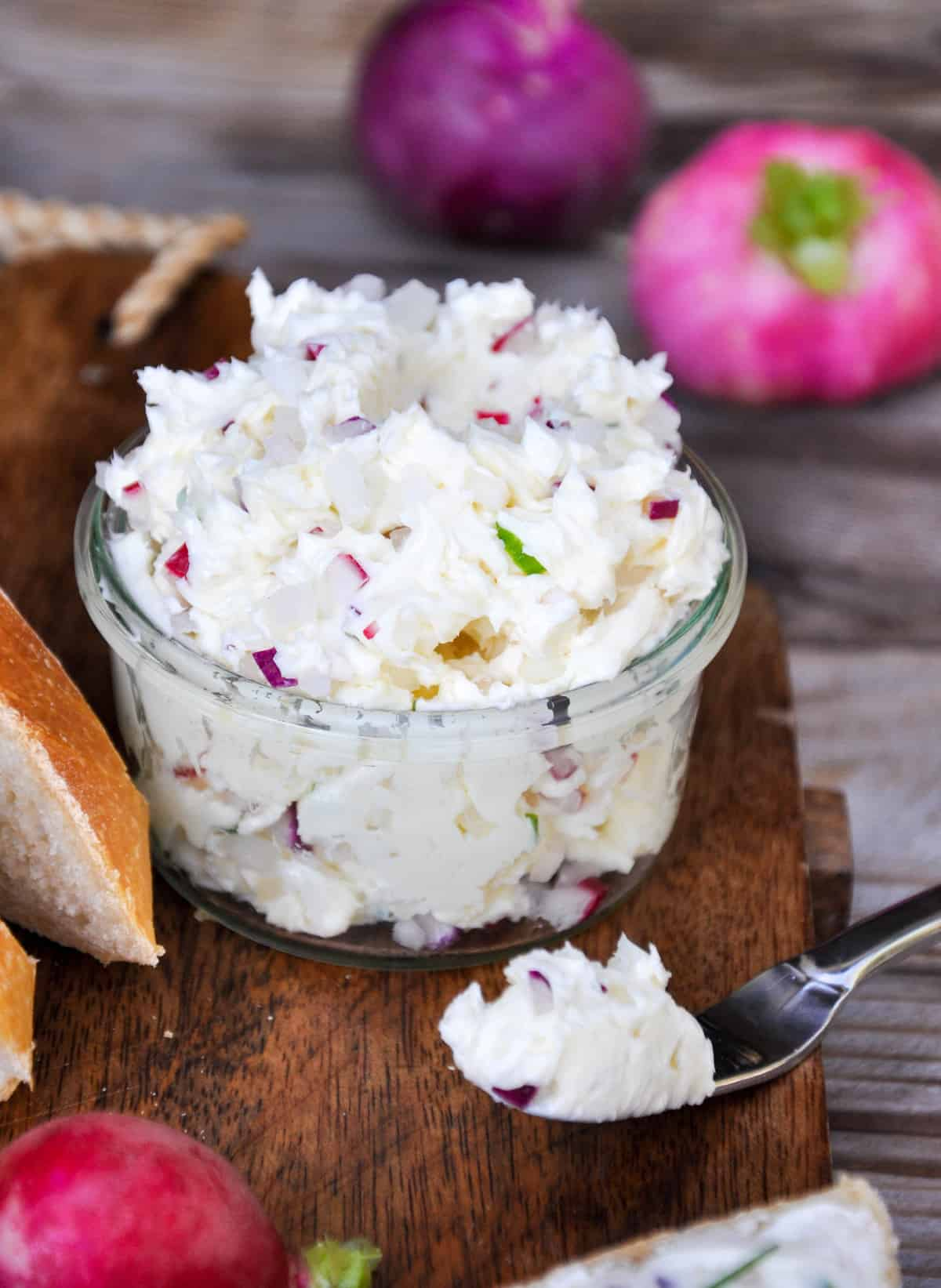 Radish Butter. Sweet, salty and peppery all in one place.!