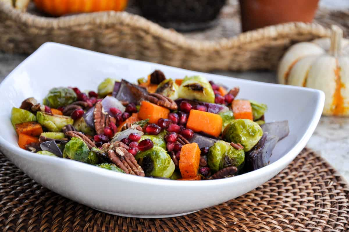 Roasted Brussels Sprout & Butternut Squash Medley