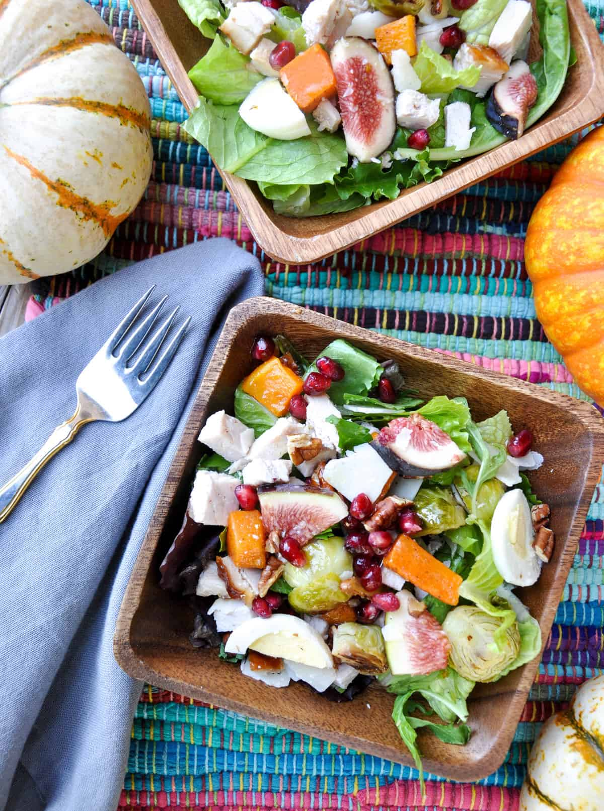 Thanksgiving Surplus Salad. Use all those scrumptious leftovers in a salad the next day!