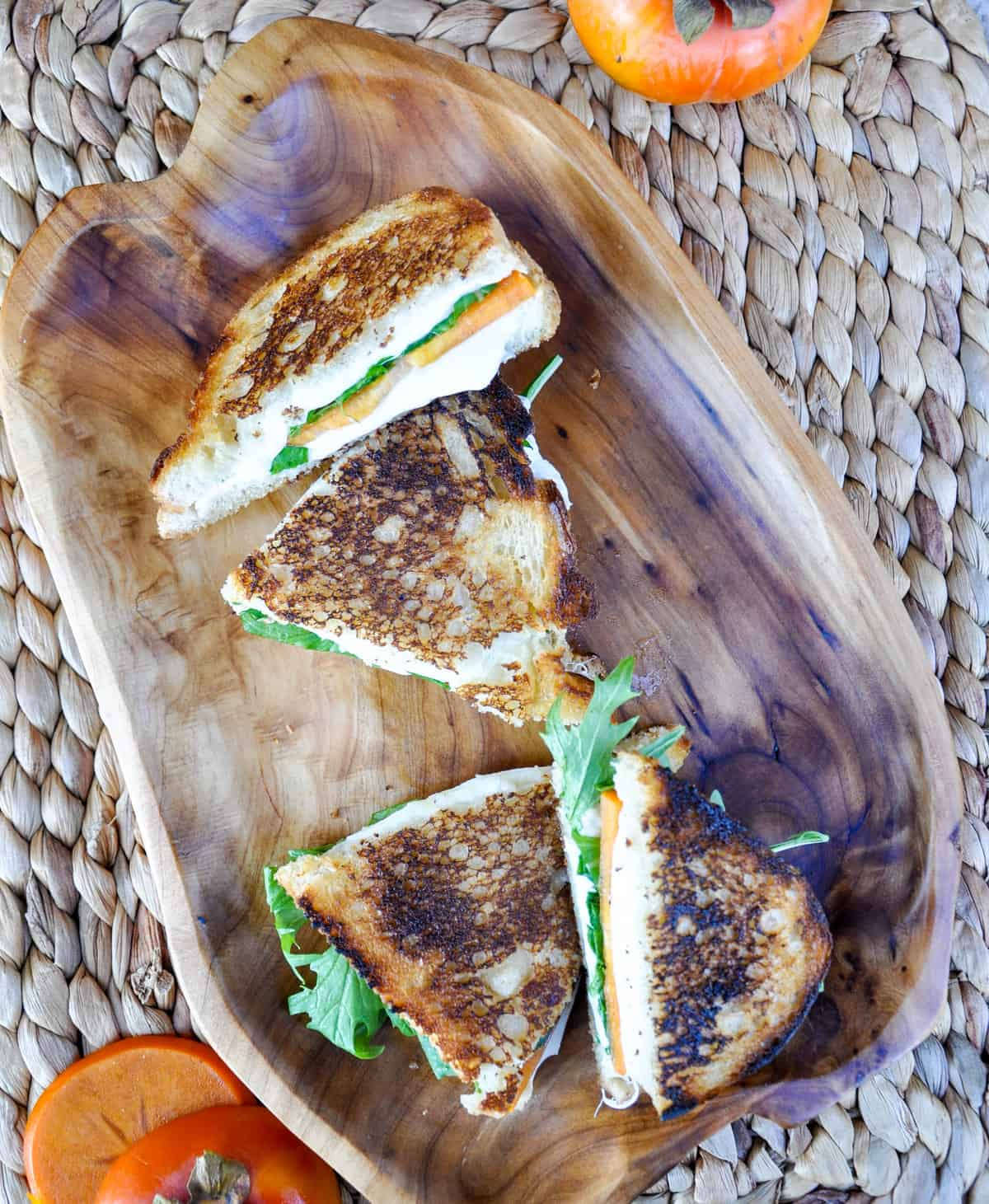 Persimmon Grilled Cheese