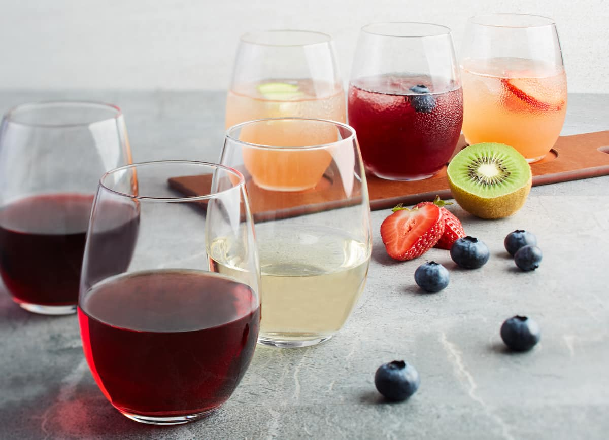 California Wine Flight + Sangria Flight