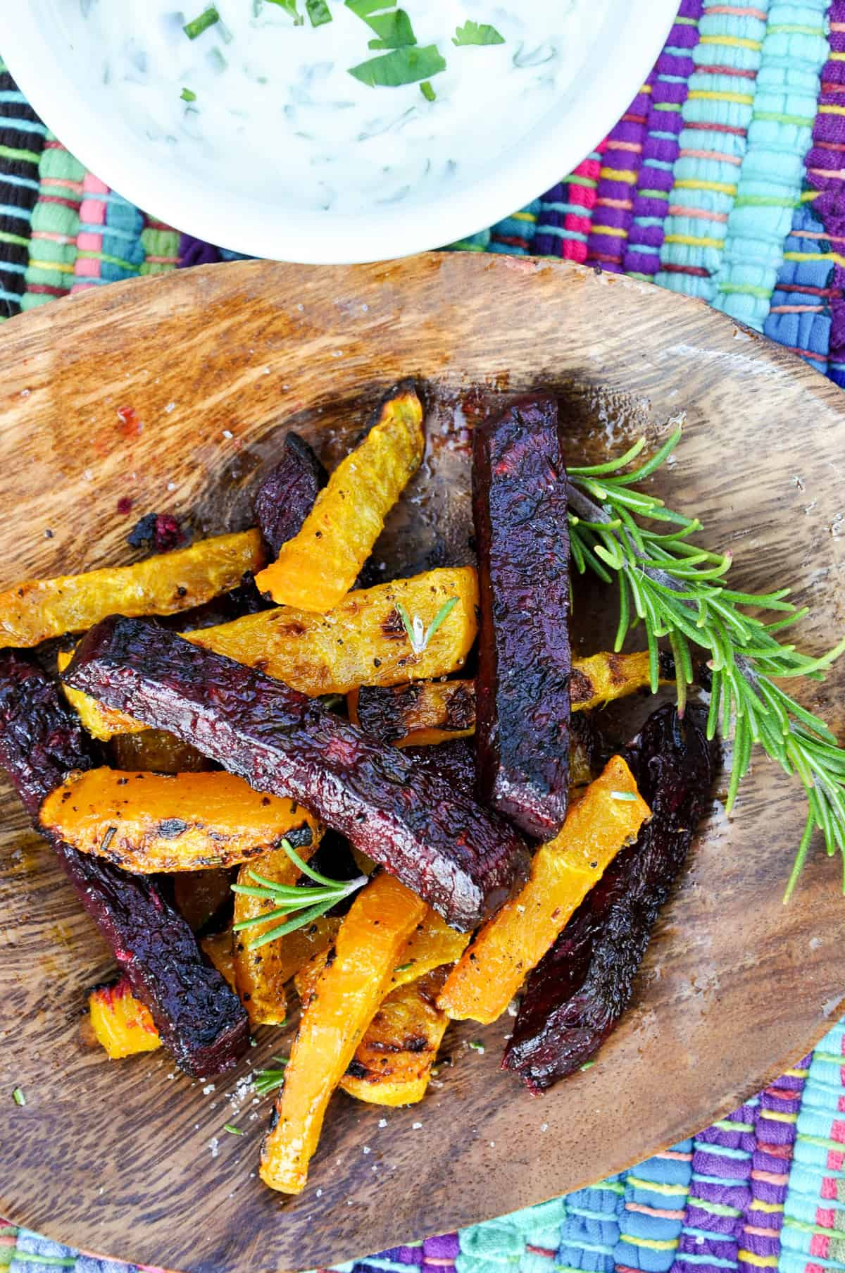 Beet Fries with Rosemary Salt