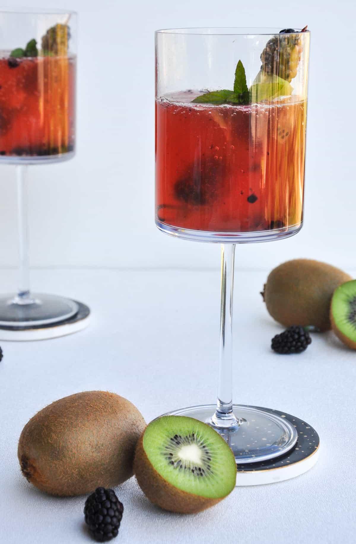 Blackberry Kiwi Mimosa
