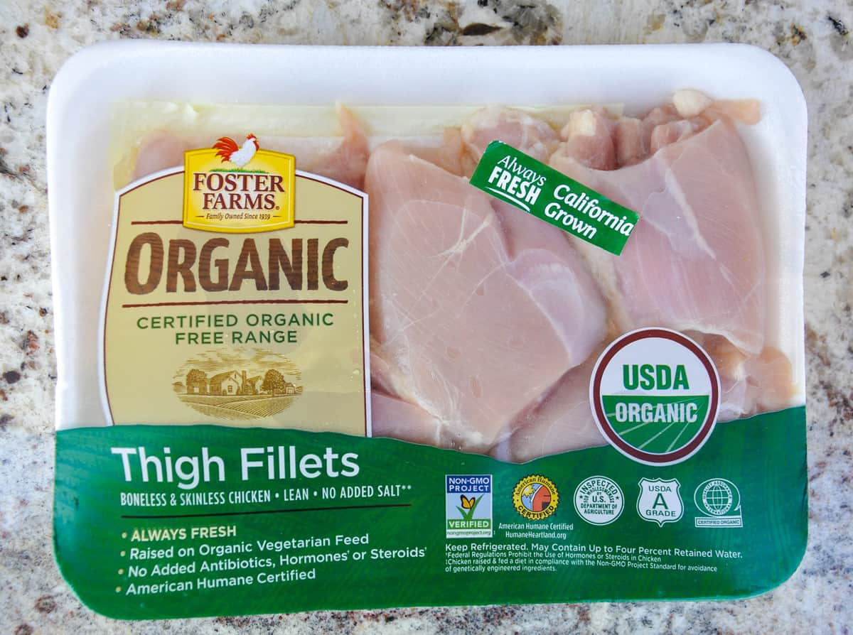 Foster Farms Organic Chicken Thigh Fillets