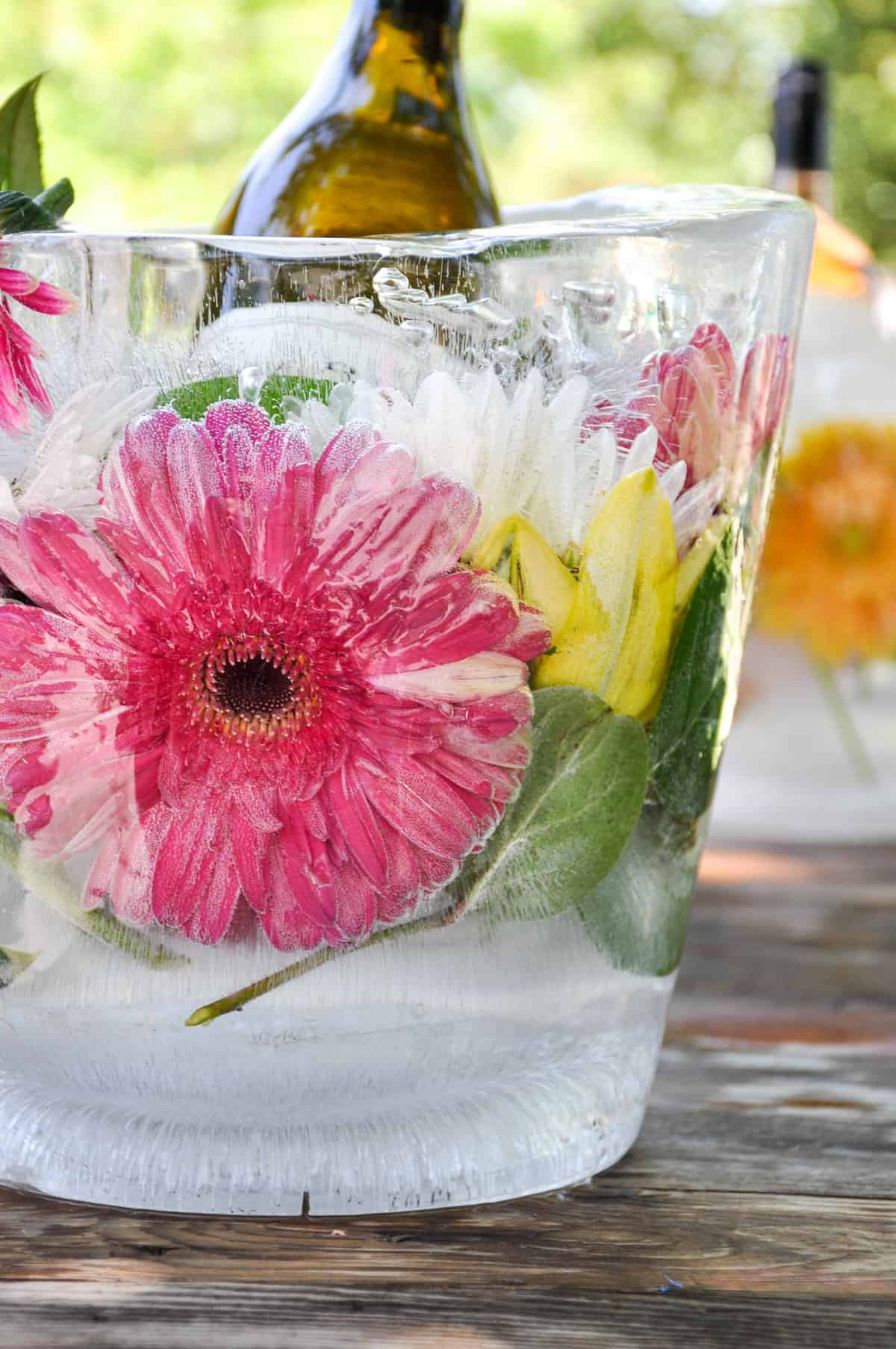 Floral Ice Bucket DIY