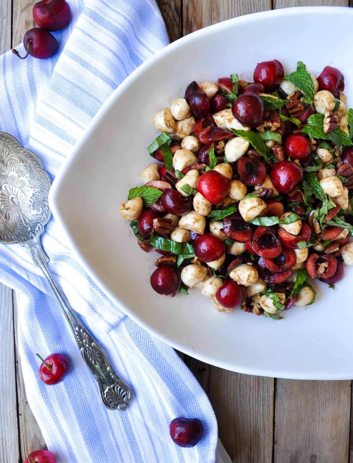 Sweet Cherry Caprese Salad