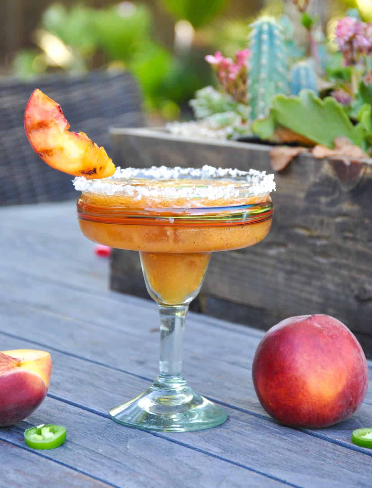 Spicy Grilled Peach margarita