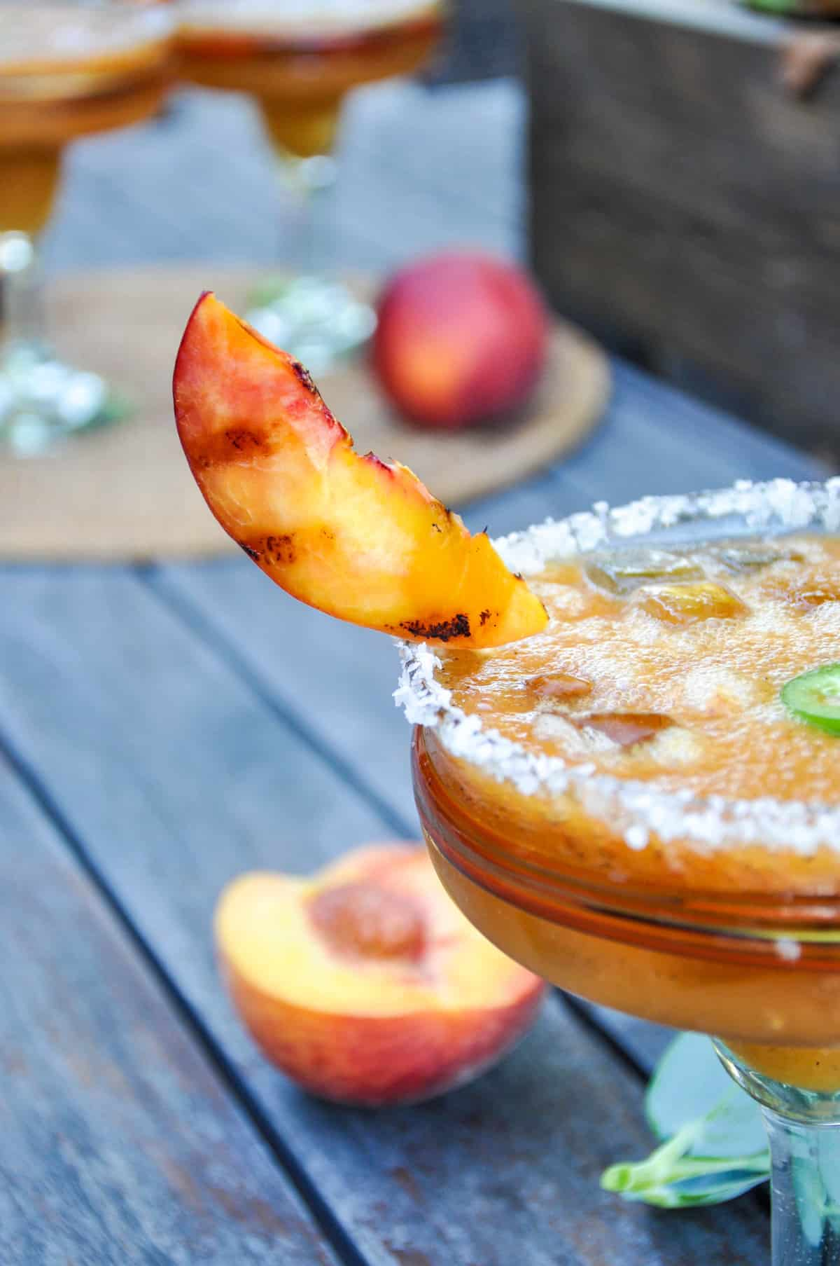 Spicy Grilled Peach margarita