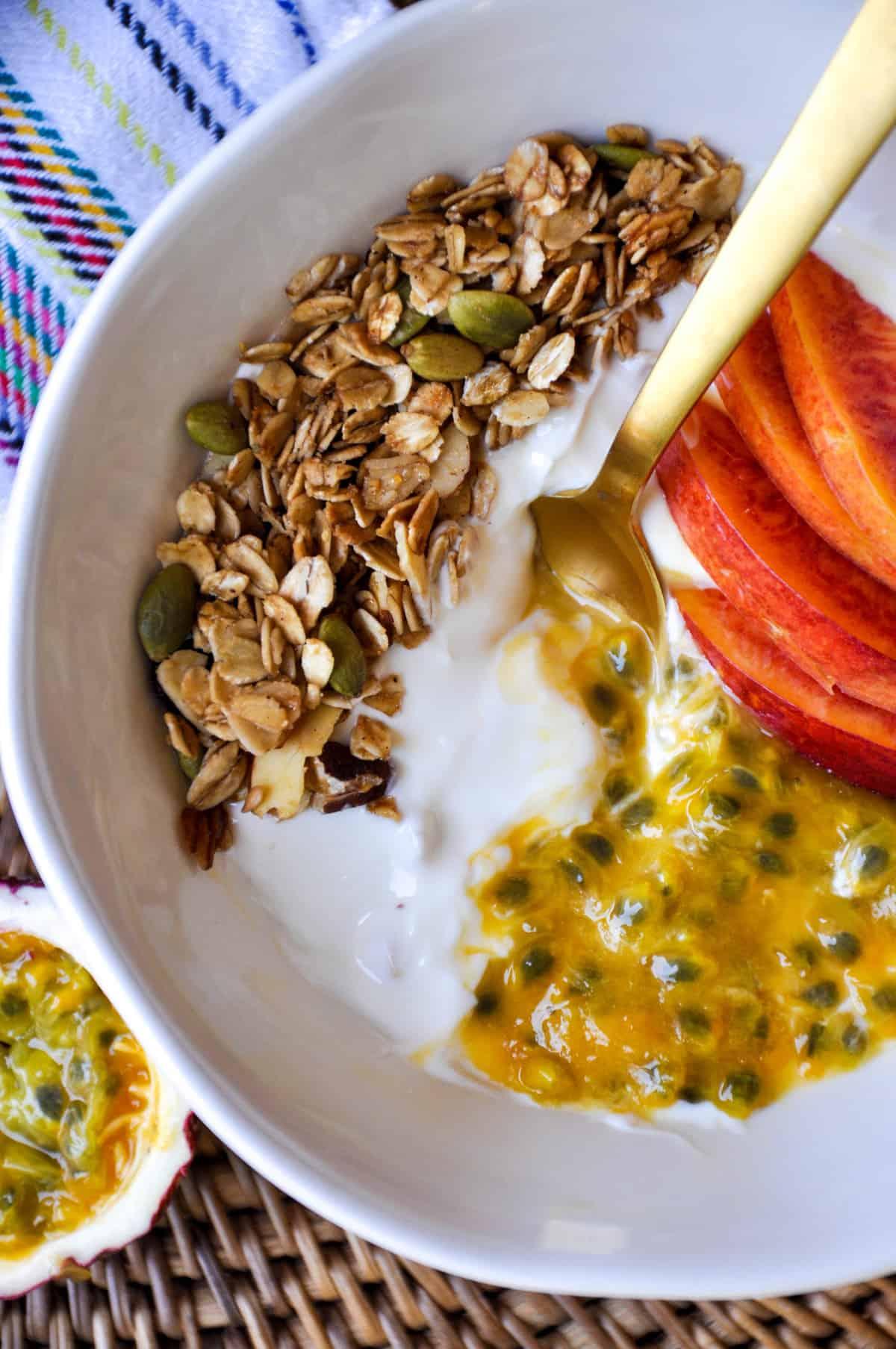 Passion Fruit & Granola Yogurt Bowl