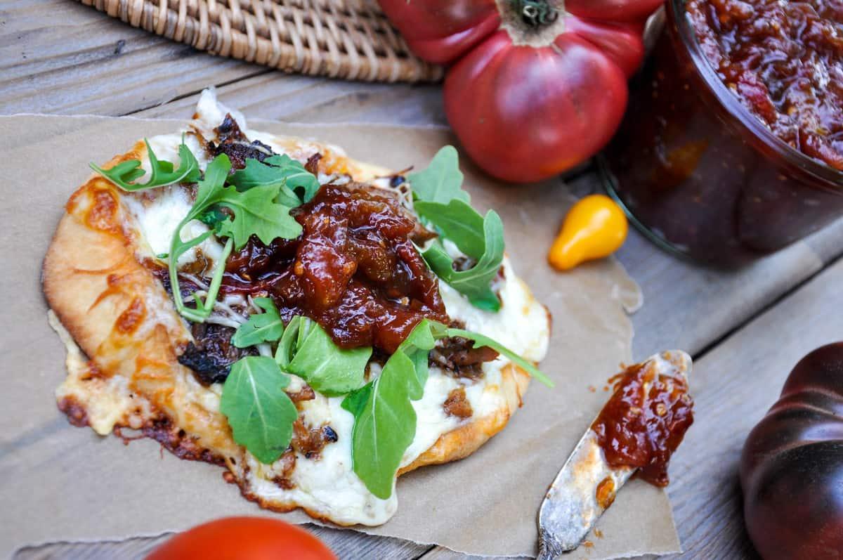 Tomato Jam on Pizza