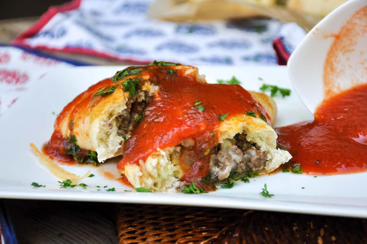 Beef and Mushrooms Calzone