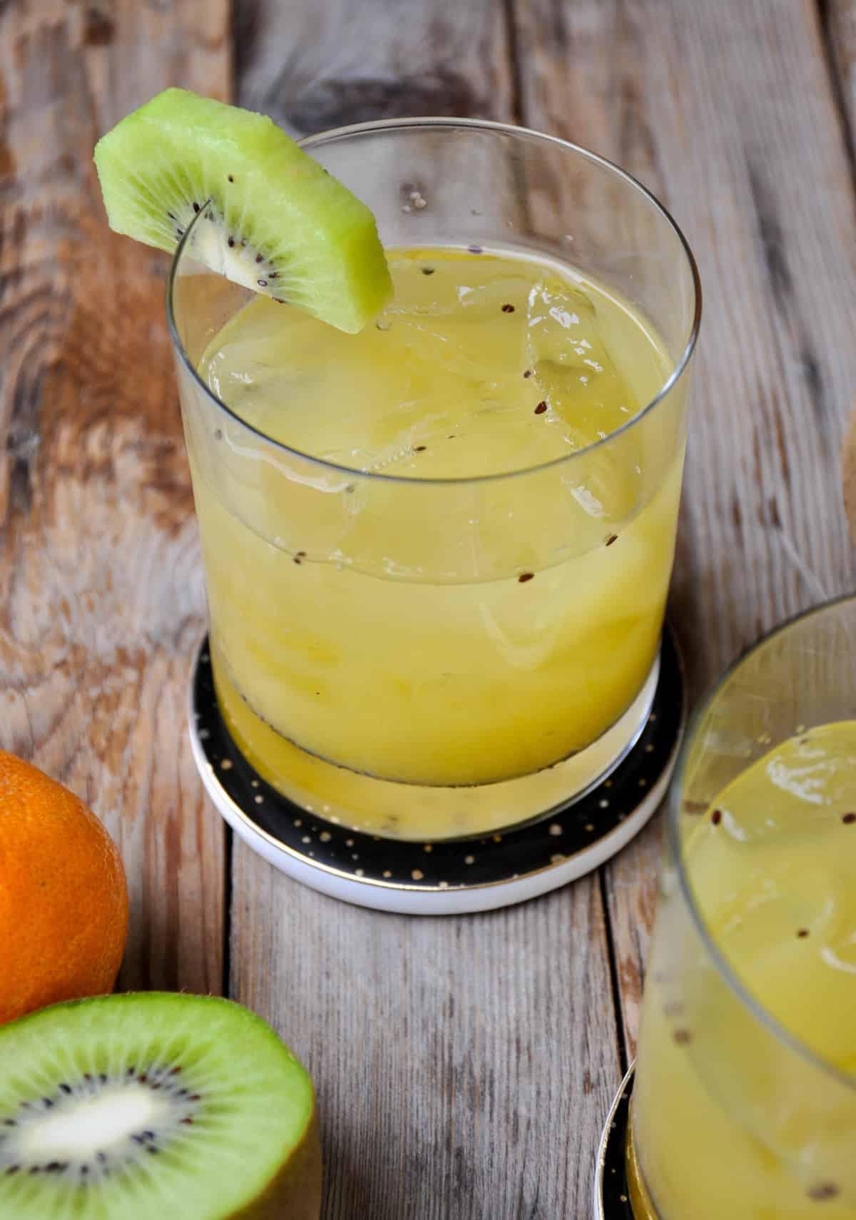Kiwi Tangerine Bourbon Smash