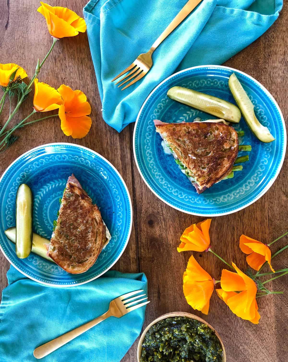 Asparagus, Brie & Ham Panini