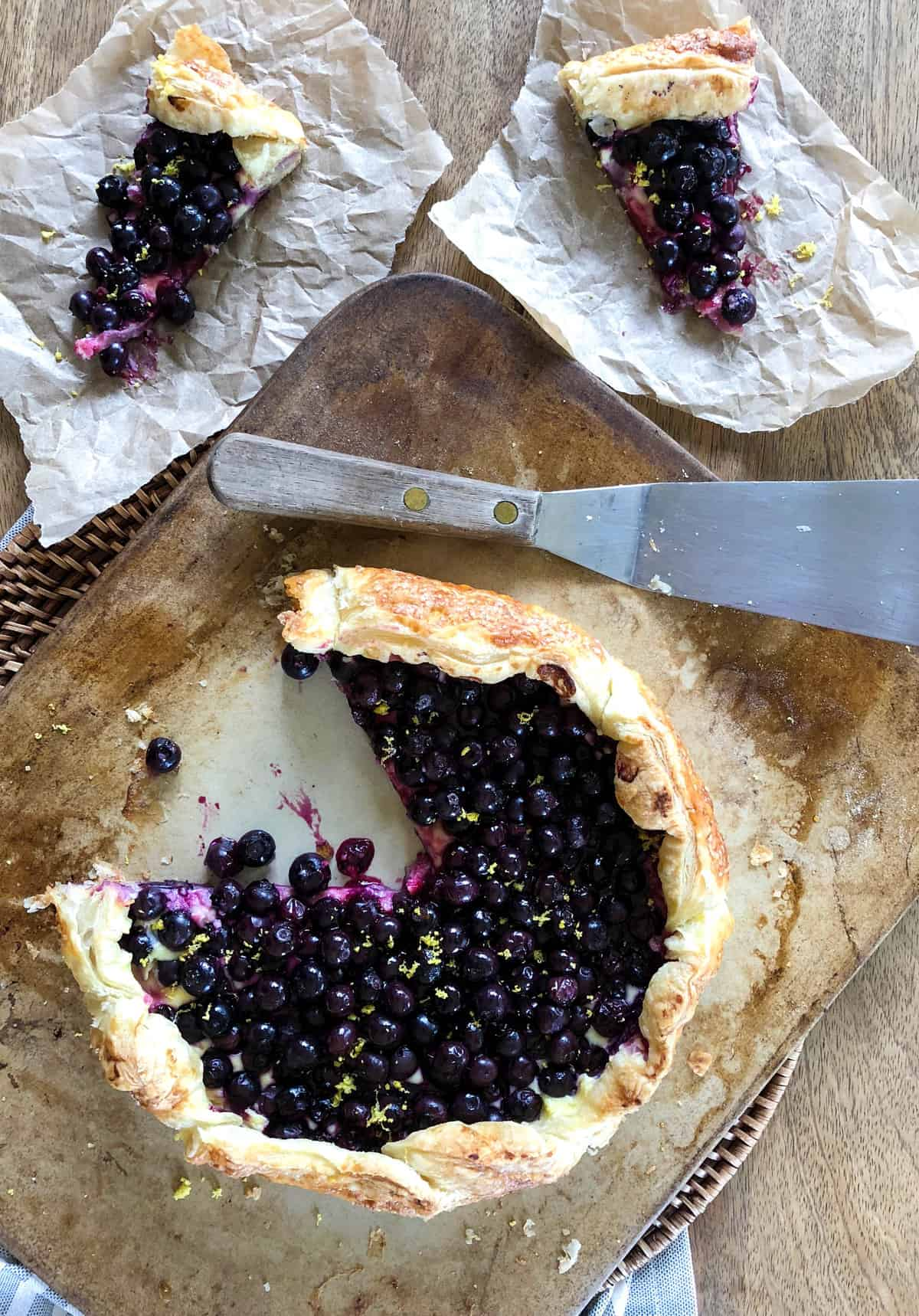 Blueberry Cream Cheese Galette