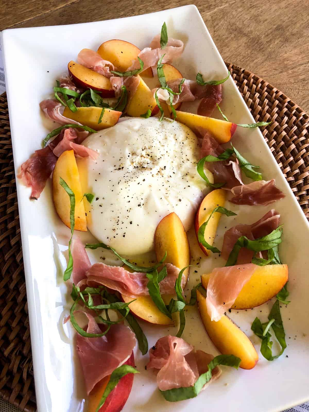 Peach Burrata Appetizer