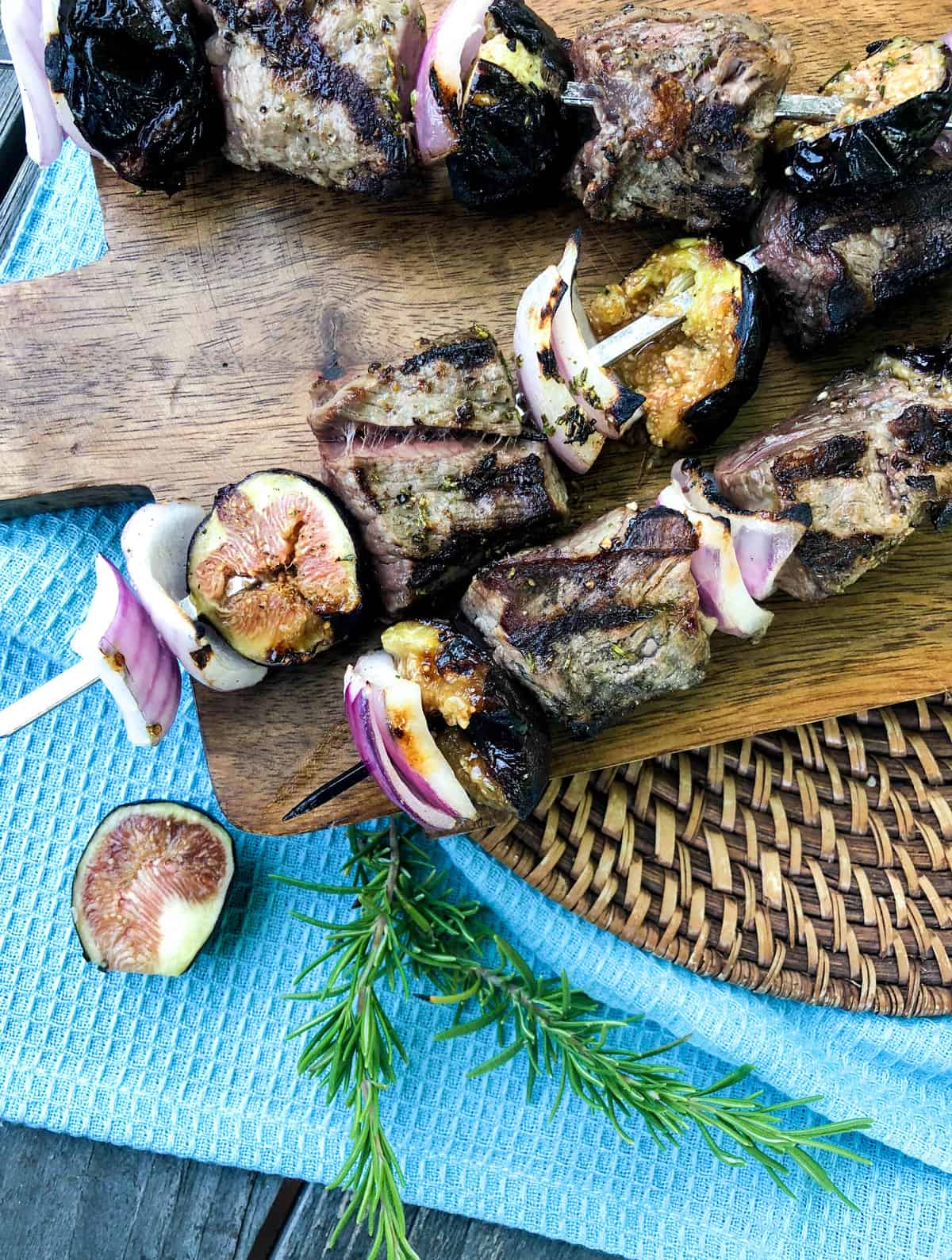 Fig and Beef Kabobs. So delicious!