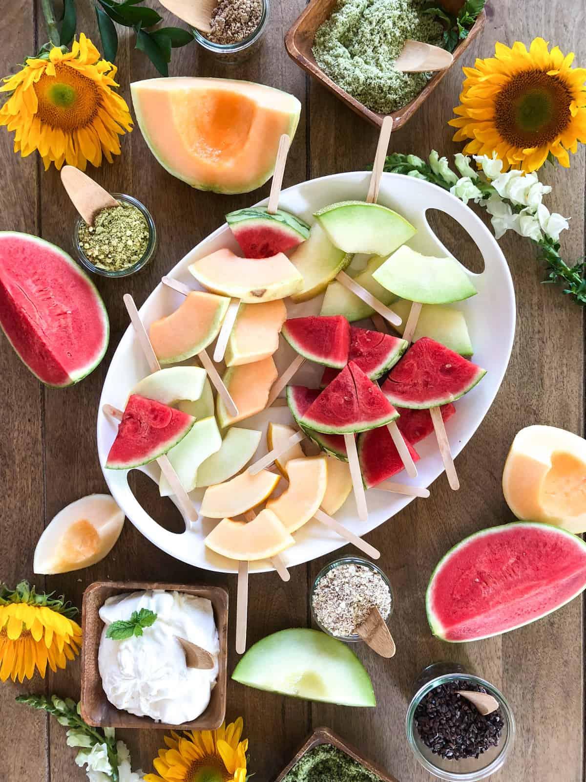 California Melon Season. Make a Melon Bar!