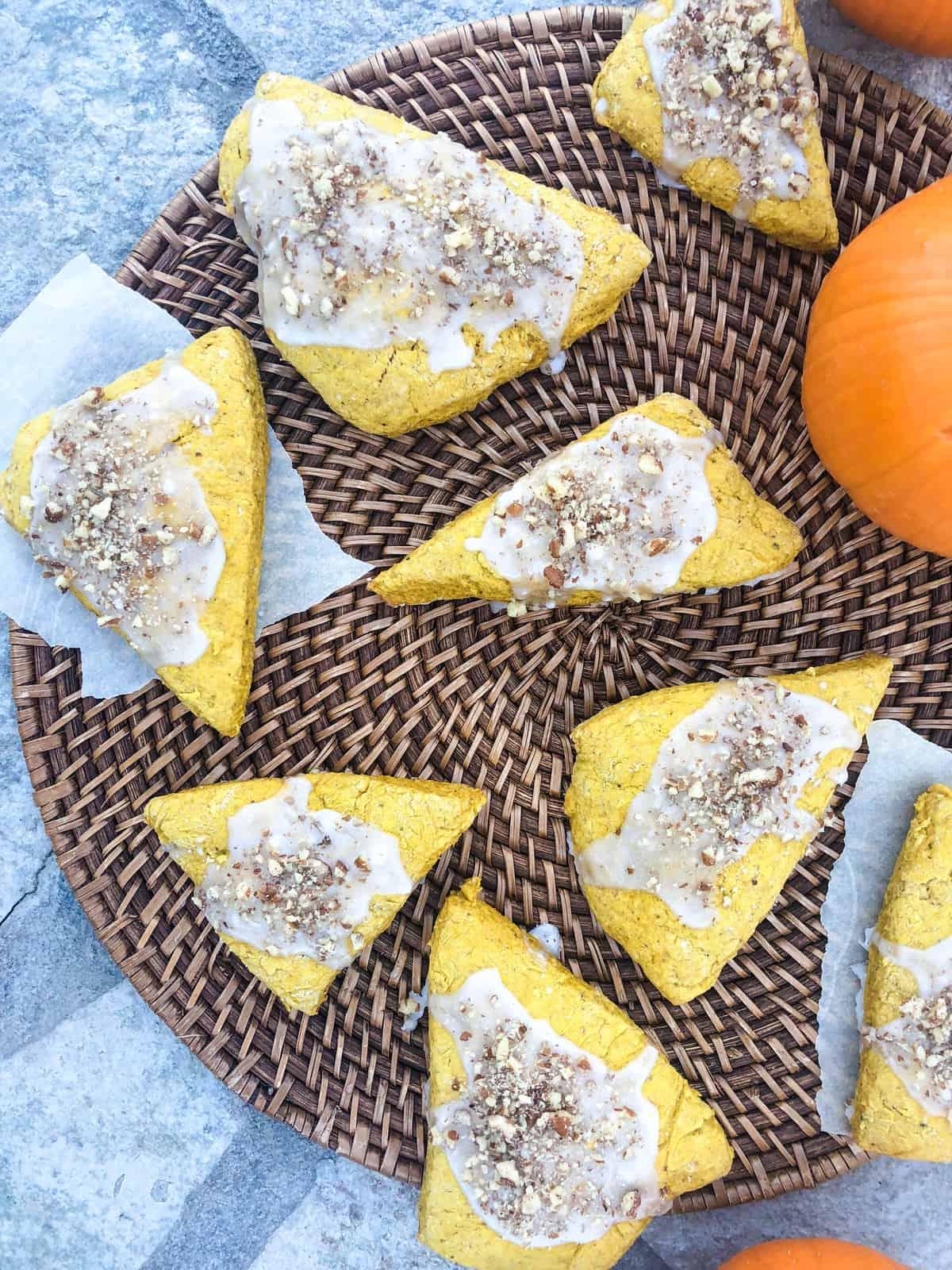 Pumpkin Pecan Scones