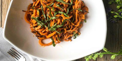 Sweetpotato Noodles in Thai Basil Sauce
