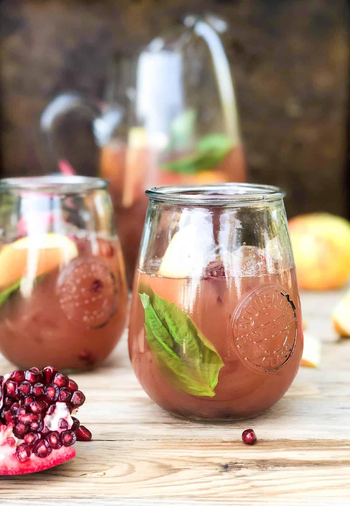 Pomegranate Apple Basil Refresher