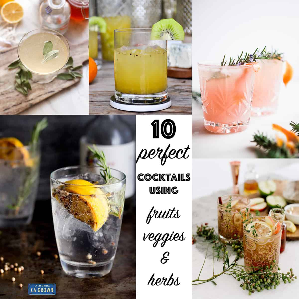 10 Perfect Cocktails using Fruits and Veggies