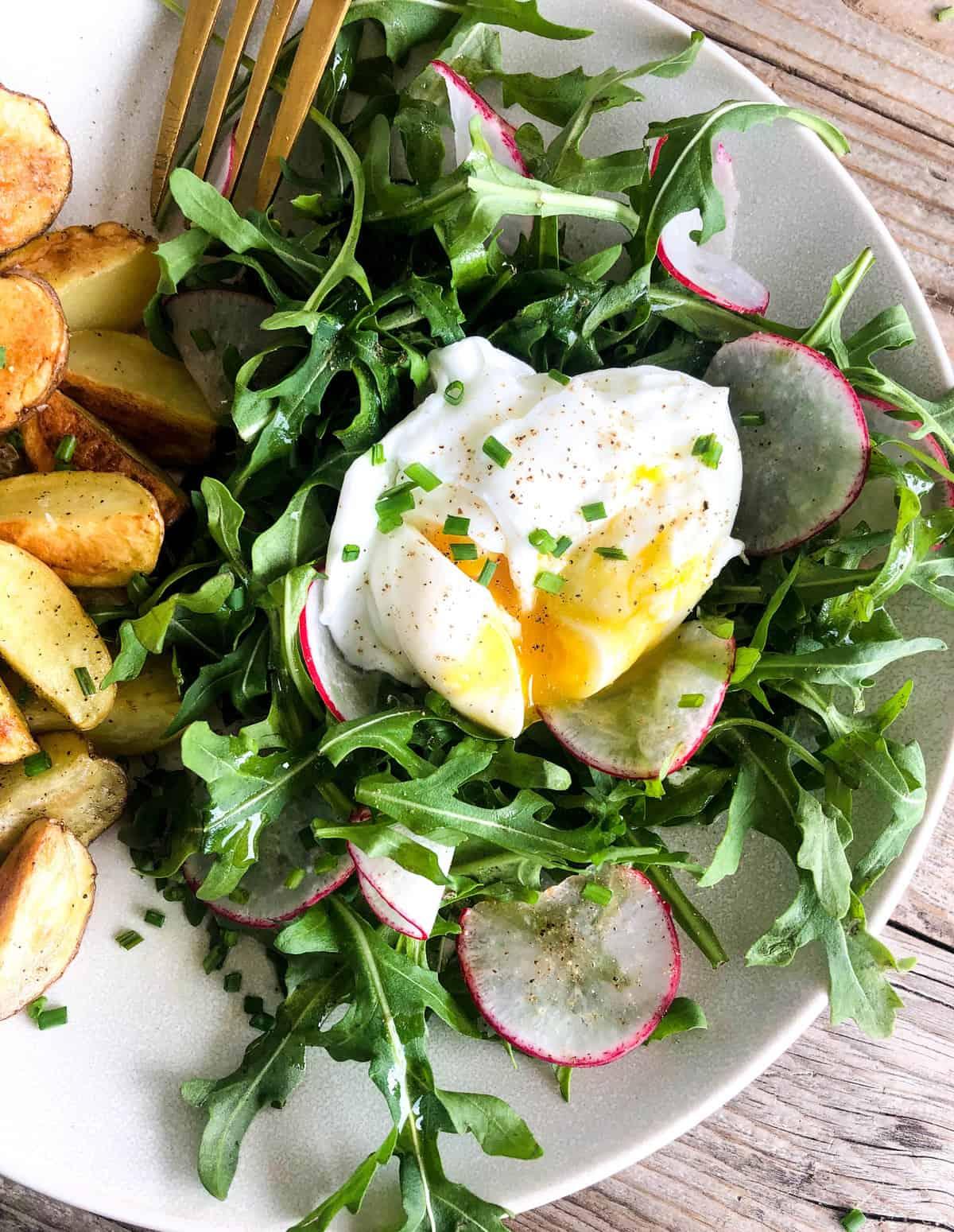 Arugula Salad with Poached Egg