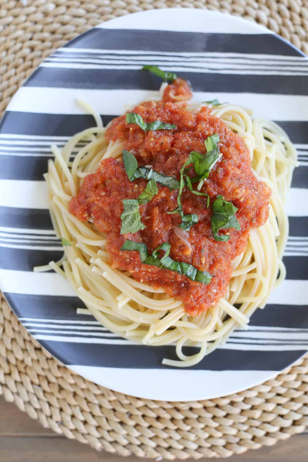 fresh roasted tomato marinara sauce
